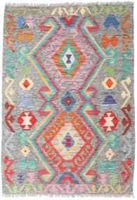 キリム アフガン オールド スタイル 絨毯 86X124 オリエンタル 手織り 薄い灰色 (ウール, アフガニスタン)