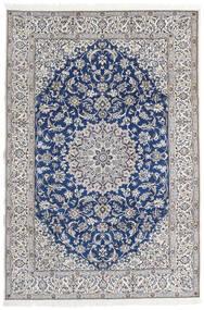 ナイン 9La 絨毯 203X297 オリエンタル 手織り 薄い灰色/ベージュ (ウール/絹, ペルシャ/イラン)