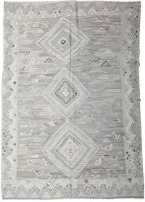 キリム Ariana 絨毯 256X357 モダン 手織り 薄い灰色 大きな (ウール, アフガニスタン)