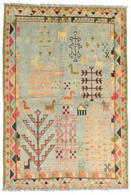 Moroccan Berber - Afghanistan 絨毯 100X200 モダン 手織り 薄い灰色/暗めのベージュ色の/ライトグリーン (ウール, アフガニスタン)