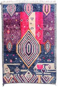 Berber Moroccan - Mid Atlas 絨毯 216X315 モダン 手織り ピンク/ホワイト/クリーム色 (ウール, モロッコ)