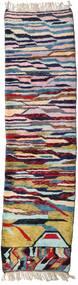 Berber Moroccan - Mid Atlas 絨毯 93X346 モダン 手織り 廊下 カーペット 濃い紫/薄い灰色 (ウール, モロッコ)