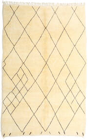 Berber Moroccan - Beni Ourain 絨毯 210X317 モダン 手織り ベージュ/黄色 (ウール, モロッコ)