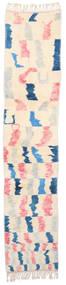 Berber Moroccan - Mid Atlas 絨毯 70X352 モダン 手織り 廊下 カーペット ベージュ/ライトピンク (ウール, モロッコ)