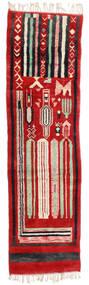 Berber Moroccan - Mid Atlas 絨毯 82X304 モダン 手織り 廊下 カーペット 錆色/黒 (ウール, モロッコ)