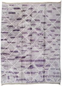 Berber Moroccan - Mid Atlas 絨毯 255X348 モダン 手織り 薄い灰色/薄紫色 大きな (ウール, モロッコ)