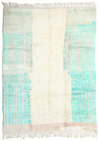 Berber Moroccan - Mid Atlas 絨毯 260X342 モダン 手織り ベージュ/ホワイト/クリーム色 大きな (ウール, モロッコ)