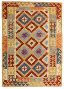 キリム アフガン オールド スタイル 絨毯 131X180 オリエンタル 手織り 薄茶色/深紅色の (ウール, アフガニスタン)