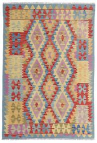 キリム アフガン オールド スタイル 絨毯 100X153 オリエンタル 手織り 深紅色の/ベージュ (ウール, アフガニスタン)