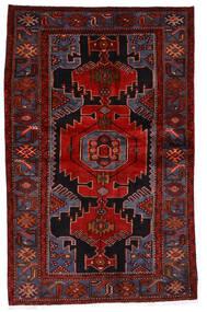 ハマダン 絨毯 133X209 オリエンタル 手織り 深紅色の/錆色 (ウール, ペルシャ/イラン)