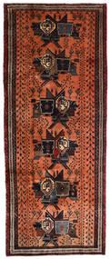 アフシャル 絨毯 107X265 オリエンタル 手織り 廊下 カーペット 濃い茶色/赤 (ウール, ペルシャ/イラン)