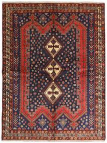 アフシャル 絨毯 158X210 オリエンタル 手織り 深紅色の/黒 (ウール, ペルシャ/イラン)