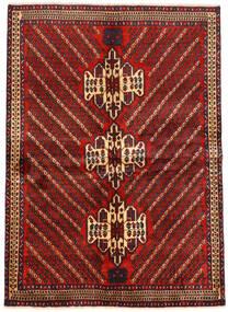 アフシャル 絨毯 161X222 オリエンタル 手織り 深紅色の/黒 (ウール, ペルシャ/イラン)