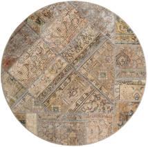 パッチワーク - Persien/Iran 絨毯 Ø 150 モダン 手織り ラウンド 薄い灰色/茶 (ウール, ペルシャ/イラン)