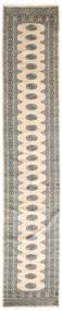 パキスタン ブハラ 2Ply 絨毯 78X409 オリエンタル 手織り 廊下 カーペット 薄い灰色/ベージュ (ウール, パキスタン)