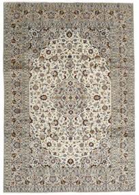 カシャン 絨毯 246X352 オリエンタル 手織り 薄い灰色/濃いグレー (ウール, ペルシャ/イラン)