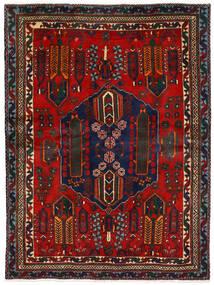 アフシャル 絨毯 162X224 オリエンタル 手織り 深紅色の/濃い茶色 (ウール, ペルシャ/イラン)