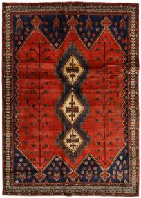 アフシャル 絨毯 176X248 オリエンタル 手織り 濃い茶色/錆色 (ウール, ペルシャ/イラン)