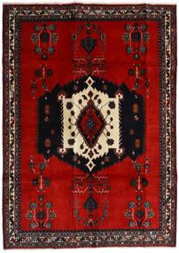 アフシャル 絨毯 188X261 オリエンタル 手織り 黒/錆色/深紅色の (ウール, ペルシャ/イラン)