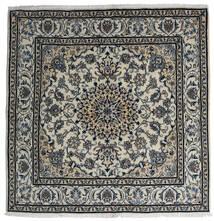 ナイン 絨毯 200X203 オリエンタル 手織り 正方形 薄い灰色/濃いグレー (ウール, ペルシャ/イラン)