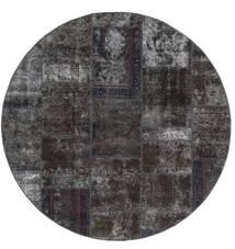 パッチワーク - Persien/Iran 絨毯 Ø 200 モダン 手織り ラウンド 黒/茶 (ウール, ペルシャ/イラン)