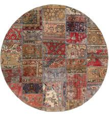 パッチワーク - Persien/Iran 絨毯 Ø 200 モダン 手織り ラウンド 深紅色の/薄茶色 (ウール, ペルシャ/イラン)