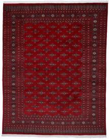 パキスタン ブハラ 2Ply 絨毯 241X303 オリエンタル 手織り 深紅色の/濃い茶色 (ウール, パキスタン)