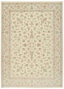 タブリーズ 60 Raj 絹の縦糸 絨毯 255X343 オリエンタル 手織り ベージュ/暗めのベージュ色の 大きな (ウール/絹, ペルシャ/イラン)