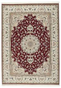 タブリーズ 50 Raj シルク製 絨毯 248X347 オリエンタル 手織り 薄い灰色/深紅色の (ウール/絹, ペルシャ/イラン)