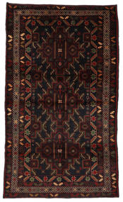 バルーチ 絨毯 115X196 オリエンタル 手織り 濃い茶色/深紅色の (ウール, アフガニスタン)