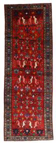 ハマダン 絨毯 112X330 オリエンタル 手織り 廊下 カーペット 深紅色の/錆色/黒 (ウール, ペルシャ/イラン)