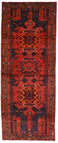 ハマダン 絨毯 112X289 オリエンタル 手織り 廊下 カーペット 深紅色の/濃い茶色 (ウール, ペルシャ/イラン)