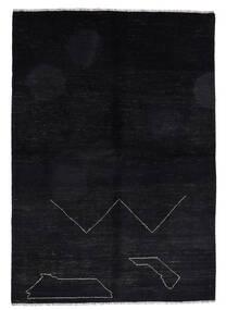 Moroccan Berber - Afghanistan 絨毯 163X235 モダン 手織り 黒 (ウール, アフガニスタン)