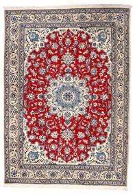 ナイン 絨毯 164X228 オリエンタル 手織り 薄い灰色/ベージュ (ウール, ペルシャ/イラン)