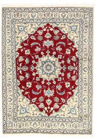 ナイン 絨毯 167X235 オリエンタル 手織り 薄い灰色/ベージュ (ウール, ペルシャ/イラン)