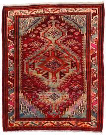 ハマダン 絨毯 150X180 オリエンタル 手織り 深紅色の/錆色 (ウール, ペルシャ/イラン)