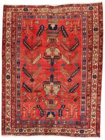 アフシャル/Sirjan 絨毯 162X217 オリエンタル 手織り 深紅色の/錆色 (ウール, ペルシャ/イラン)
