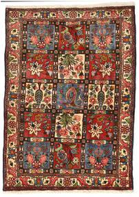 バクティアリ Collectible 絨毯 114X158 オリエンタル 手織り 黒/深緑色の (ウール, ペルシャ/イラン)