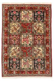 バクティアリ Collectible 絨毯 103X150 オリエンタル 手織り 濃い茶色/薄茶色 (ウール, ペルシャ/イラン)