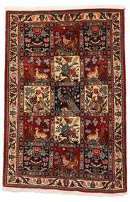 バクティアリ Collectible 絨毯 106X152 オリエンタル 手織り 濃い茶色/深紅色の (ウール, ペルシャ/イラン)