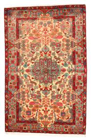 ナハバンド オールド 絨毯 158X250 オリエンタル 手織り 赤/暗めのベージュ色の (ウール, ペルシャ/イラン)
