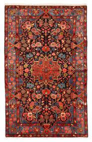 ナハバンド オールド 絨毯 150X240 オリエンタル 手織り 深紅色の/黒 (ウール, ペルシャ/イラン)