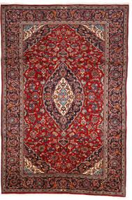 カシャン 絨毯 200X303 オリエンタル 手織り 深紅色の/茶 (ウール, ペルシャ/イラン)