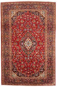カシャン 絨毯 200X309 オリエンタル 手織り 深紅色の/錆色 (ウール, ペルシャ/イラン)