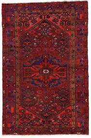 ザンジャン 絨毯 140X213 オリエンタル 手織り 深紅色の/黒 (ウール, ペルシャ/イラン)