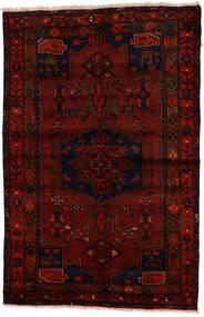 ザンジャン 絨毯 137X212 オリエンタル 手織り 濃い茶色/深紅色の (ウール, ペルシャ/イラン)