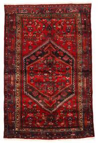 ザンジャン 絨毯 133X203 オリエンタル 手織り 深紅色の/濃い茶色/錆色 (ウール, ペルシャ/イラン)