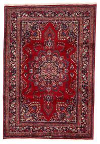 マシュハド 絨毯 200X294 オリエンタル 手織り 深紅色の/紺色の (ウール, ペルシャ/イラン)