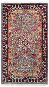 ケルマン 絨毯 90X155 オリエンタル 手織り 深紅色の/薄い灰色 (ウール, ペルシャ/イラン)