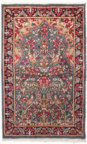 ケルマン 絨毯 95X155 オリエンタル 手織り 濃いグレー/錆色 (ウール, ペルシャ/イラン)